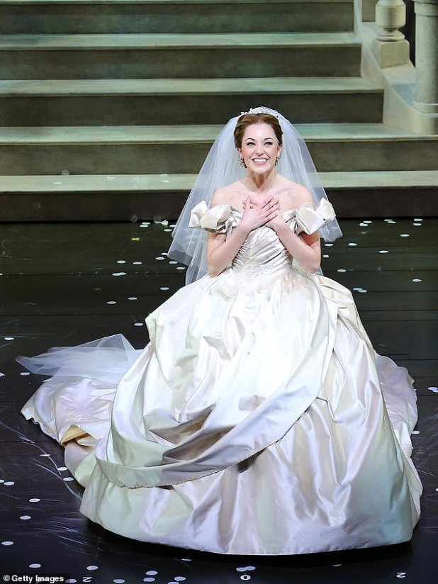 Cinderella has been performed around the world for decades and typically features a majority cast of whites.  Pictured: A Cinderella performance on Broadway in New York City in 2013