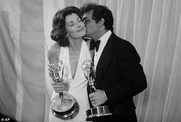 Legend: Though she may be best known for her work on Arrested Development, she earned her Primetime Emmy Award in 1975 for her role in Amy Prentis, Walter is seen here with Peter Falk of Columbo in May 1975