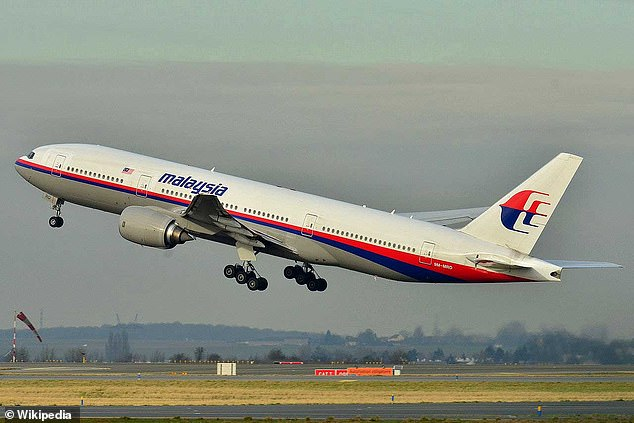 Malaysia Airlines flight MH370 was flying from Kuala Lumpur to Beijing when it vanished in 2014. Pictured:The missing aircraft taking off in France in 2011