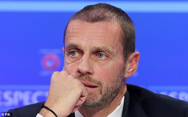 Aleksander Ceferin, president of UEFA, is furious at clubs behind the European Super League