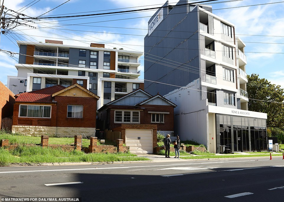 A new apartment block has been built right on their doorstep despite constant rejections of designs and amendments from the Garofanos