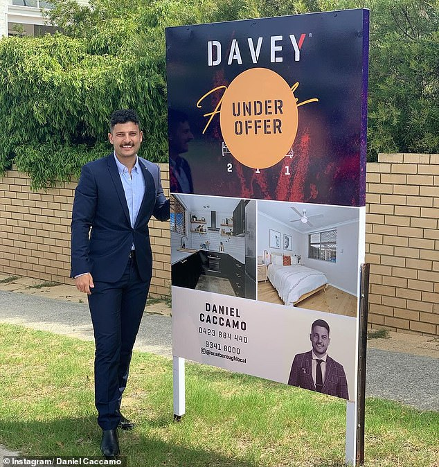 A two-bedroom house which went up for sale on Instagram has been snapped up in just six hours. Pictured:Davey Real estate agent Daniel Caccamo