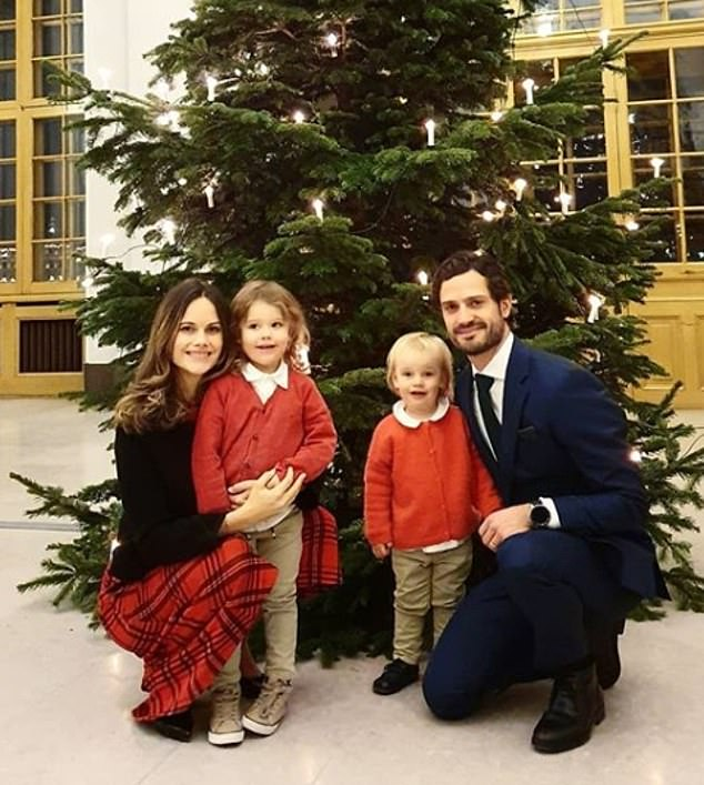 This marks the royal's first appearance since she and her husband Prince Carl Philip, 41, were diagnosed with coronavirus in December
