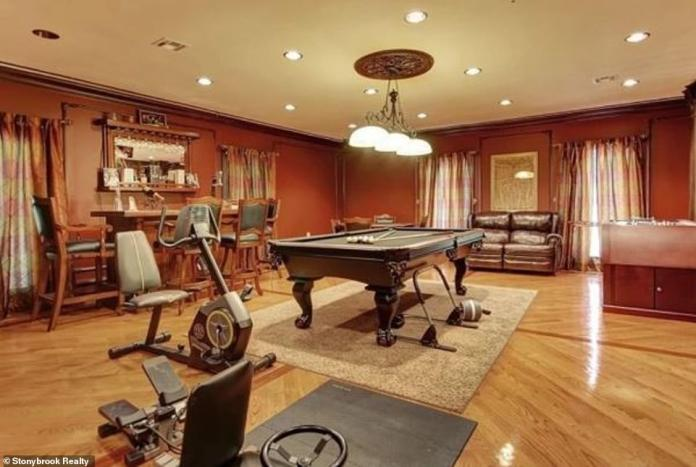 Fashion and functionality: The house is also equipped with a billiard room which currently also contains exercise equipment allowing the TV icon to remain slim