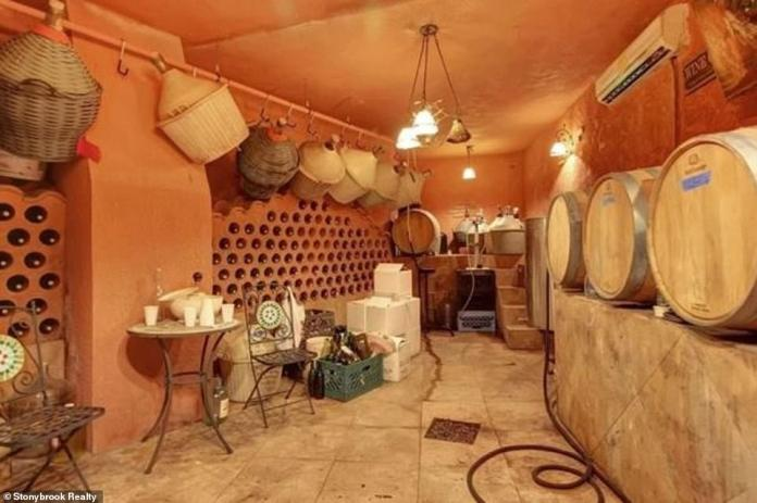Luxury: their house has features such as a wine cellar whose architectural style recalls the family's Italian roots