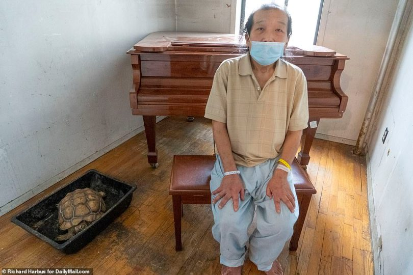 Japanese native Ryo Nagaoka, 60, returned to the East Village apartment where he has lived for 20 years on Wednesday to find it had been emptied out entirely. The only thing left was his piano. A neighbor saved his tortoise, Kame-san (Mr. Tortoise)