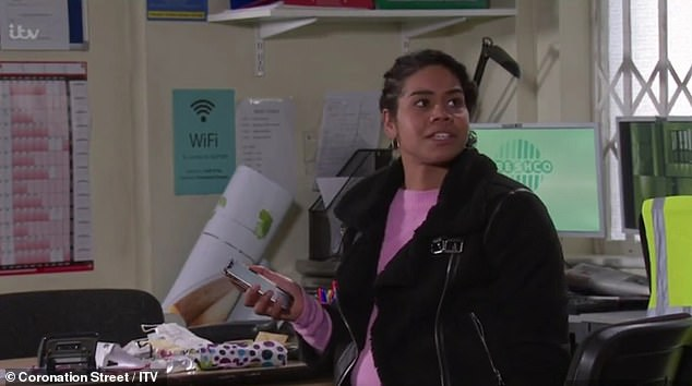 Smaller audience: Viewers on all sides are believed to be on the decline, not just for soap operas (character pictured Grace Vickers, in a recent racial profiling storyline on Corrie)