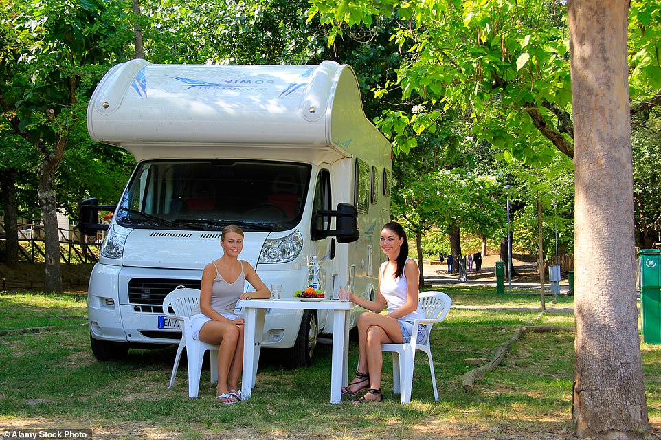 Record numbers of Britons are buying motorhomes for staycations, leading to a shortage of vehicles. As the pandemic threatens overseas holidays, motorhome dealers are facing huge demand (file image)