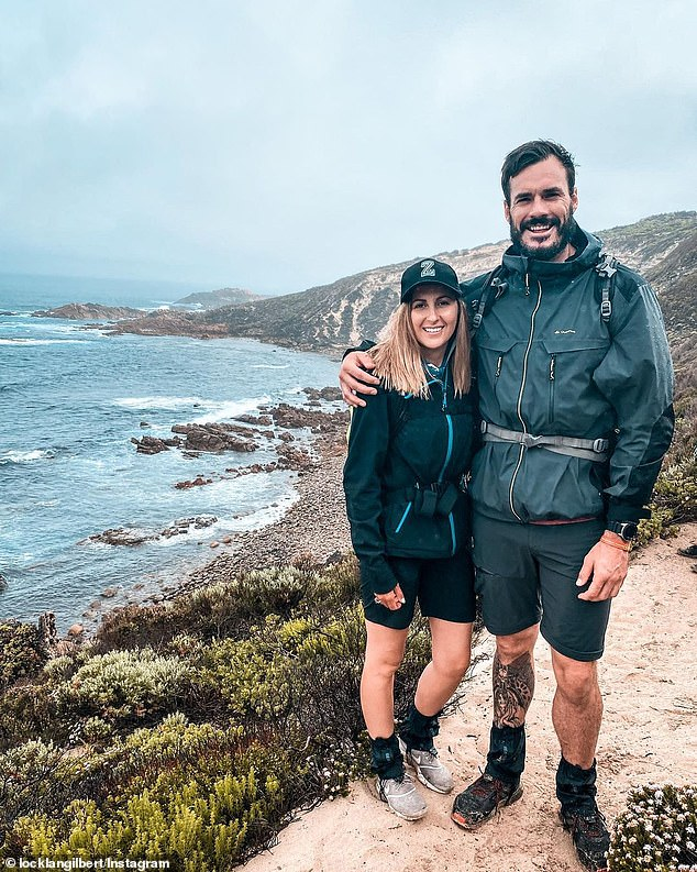 Smitten: Locky and Irena's relationship has continued to go from strength to strength as the pair travel around Australia