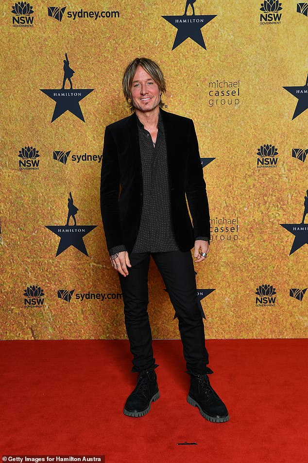 On his own!Keith Urban, 53, (pictured) went to the event solo, leaving wife Nicole Kidman at home with the children