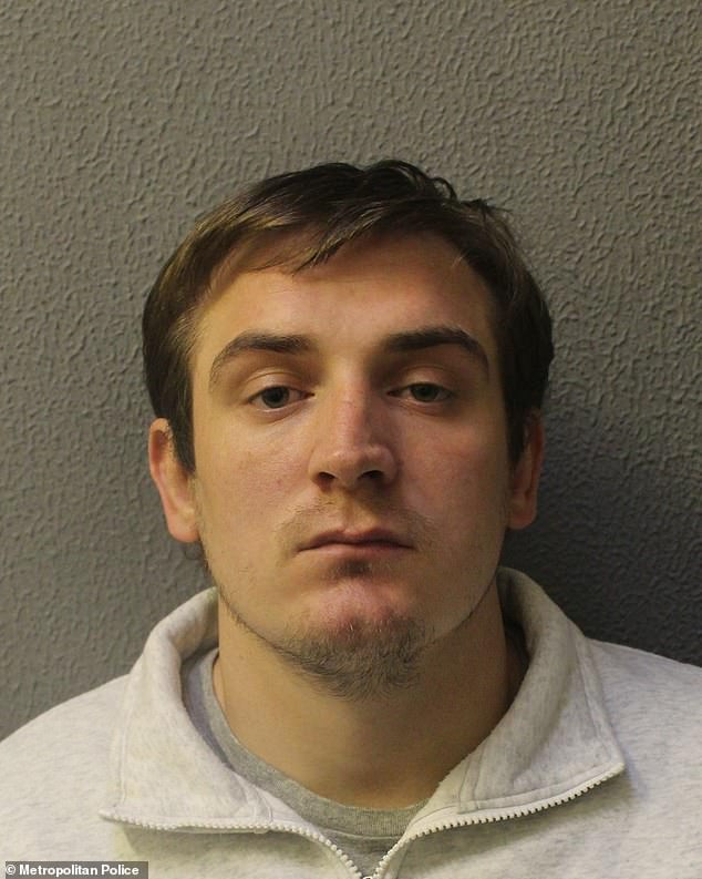 Reed Roberts, 30, was locked up for seven years and six months after pleading guilty to two counts of robbery