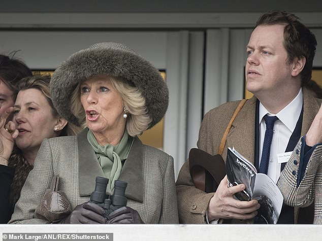 Mr Parker Bowles seen with Camilla at the Cheltenham Festival on Ladies Day in 2015
