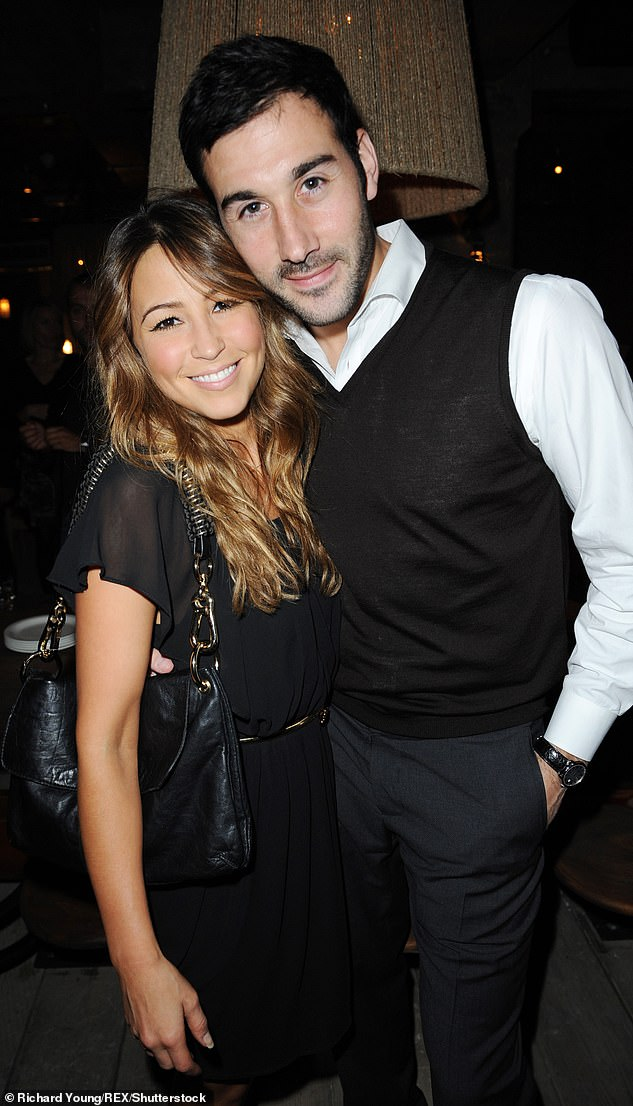 Sweet:Despite being happily married to husband Alex Bourne since 2009, Rachel insisted her emotional fragility demands she offload to someone outside the family circle (pictured with Alex in 2009)