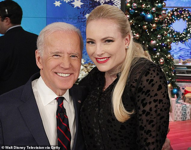 McCain has been long been a family friend of Joe Biden's. Her father, the late John McCain, worked alongside Biden in the Senate for decades.
