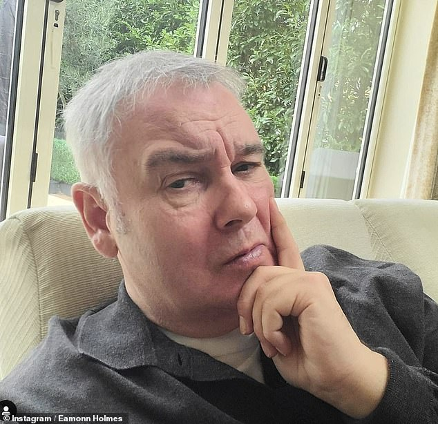 'Anyone else find these hours the worst?': On Friday Eamonn first shared his woes with fans as he posted to Twitter at around 2.30am while struggling to sleep (pictured in January)