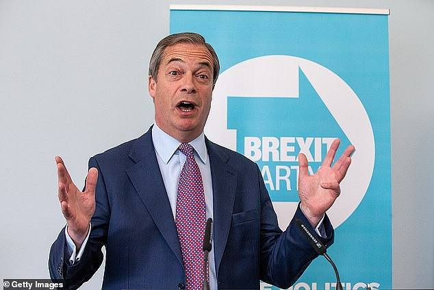 Mr Farage said the potential pub passports are 'unworkable' and put further strain on pubs