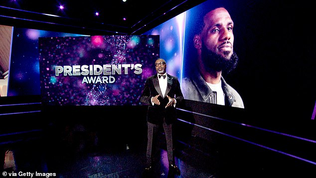 Other award recipients included LeBron James: He was honored with the President's Award, presented byNAACP President and CEO Derrick Johnson
