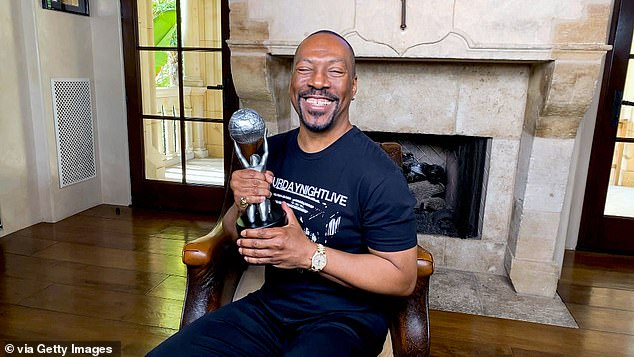 Honored:Eddie Murphy accepted the Hall of Fame Award at the affair, further crowning his banner year back in the spotlight