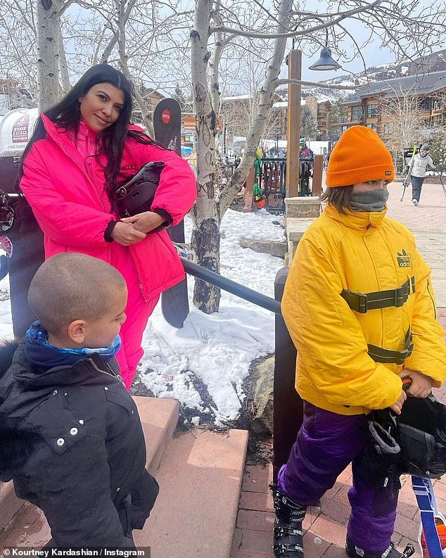 Mom duty:Kardashian is mother to three children, sons Mason, 11, and Reign, five, and daughter Penelope, eight, whom she shares with ex Scott Disick, 37