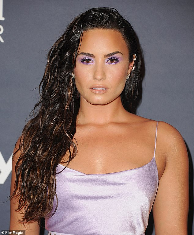 No holds barred: Lovato opened up about her history as a sexual assault survivor and near-fatal 2018 overdose in YouTube Originals docuseries Dancing With The Devil (pictured 2017)