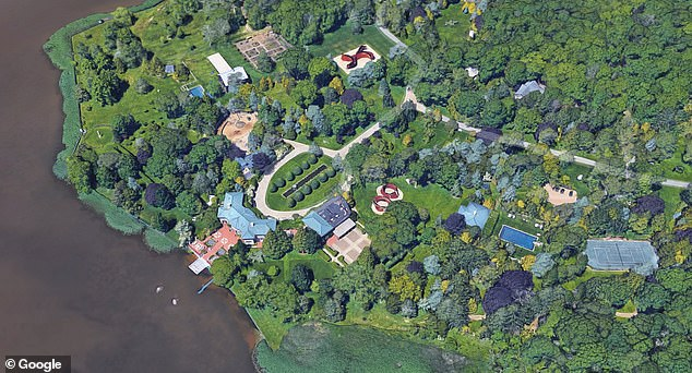 Ron Perelman's East Hampton estate, where Rooney worked before the crash, is shown above