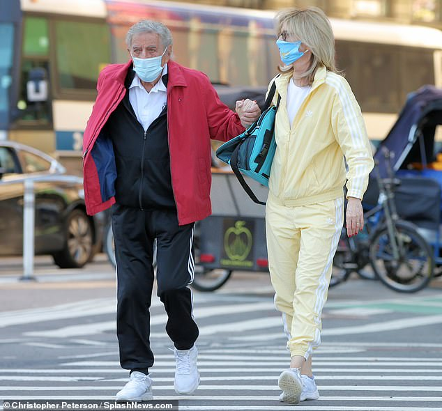 Better together: Tony Bennett and his wife Susan Crow were spotted spending time together in New York City on Saturday morning