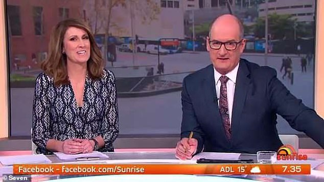 Snubbed? It comes after Sunrise hosts David 'Kochie' Koch (right) and Natalie Barr (left) confirmed last week they hadn't been invited to former anchor Sam's farewell party