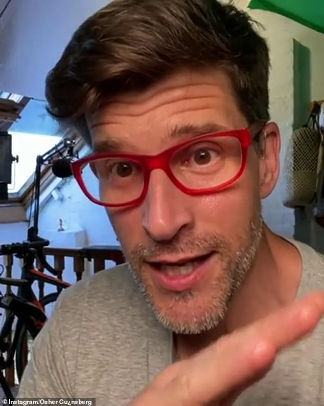 Looking good: Osher - who was born Andrew Günsbergn in 1974 - turned 47 on Monday