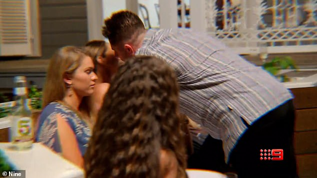 Unwelcome: An explosive trailer for this week's episodes of Married At First Sight shows the tense moment Bryce tries to kiss his arch rival Beck on the cheek