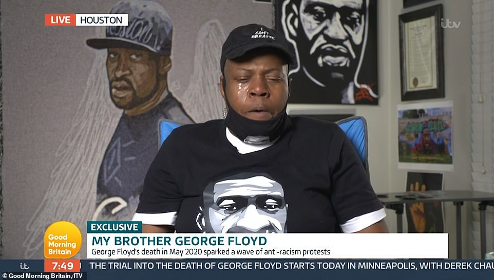 LaTonya said the family felt cared for by Minneapolis residents whose protests started the international Black Lives Matter movement after George's death, but that she could not the promote violence seen during last year's demonstrations