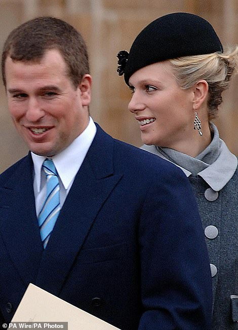 Ms Wallace attended £40,000-a-year Aberdeenshire private school Gordonstoun in the same year as Zara, 39 (pictured with her brother in 2007). Peter also attended the school but is a few years older