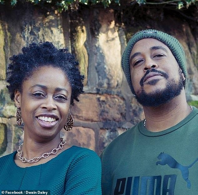 After matching on Bumble, the pair had their first online date in July 2020 and within two weeks Dwain, from Birmingham, had moved into Nyasha's home in Coventry, and in December he proposed