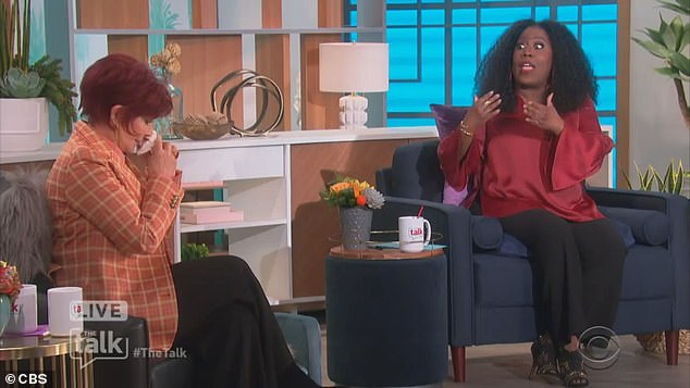 Sheryl Underwood wasn't happy with Sharon for tweeting her support. 'What would you say to people,' she demanded, 'who say that while you're standing by your friend, you appear to be giving validation or a safe haven to something he has uttered that is racist?' This was a staggering, bare-faced lie
