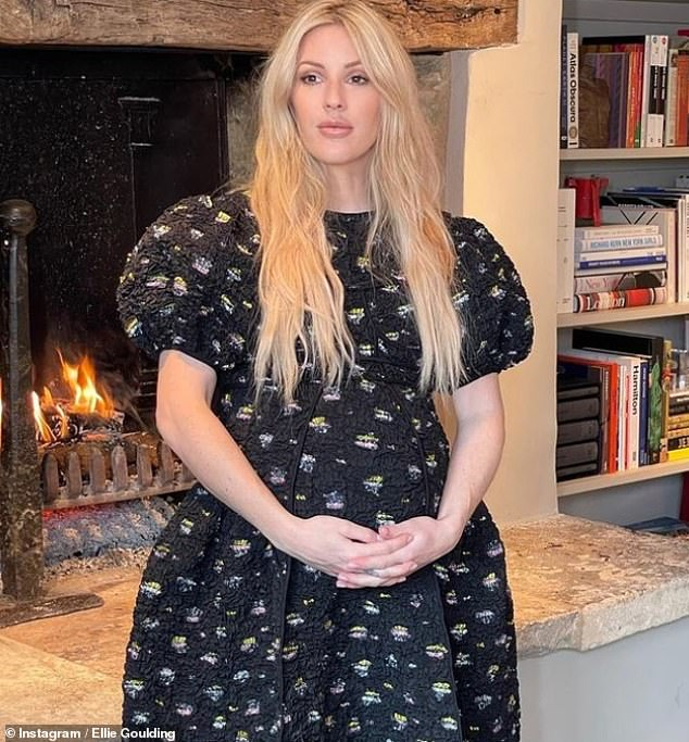 Exciting times ahead: The singer, 34, isset to become a mother for the first time later this month (pictured last month)