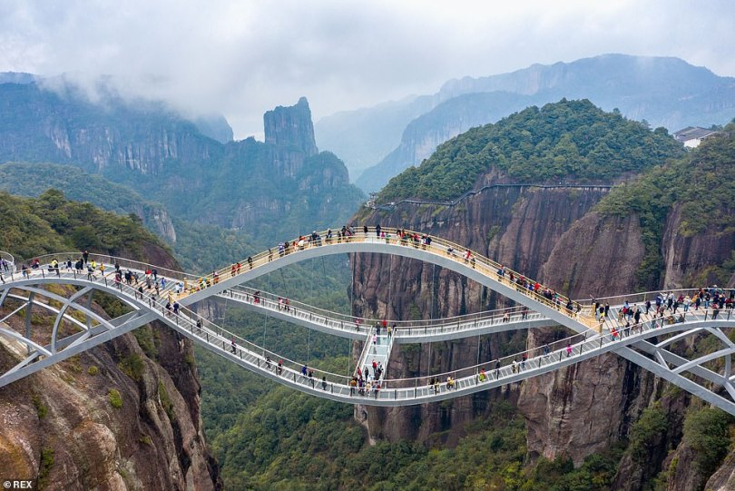Since its opening last September, more than 200,000 people have visited the bridge