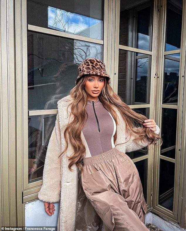 In her element: The TV star uploaded radiant images of herself modelling PLT outfits on her social media platform on Monday