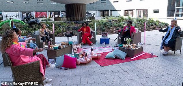 Bash: Charlene, Linda and Jane were joined by Nadia Sawalha, Brenda Edwards and Judi Love