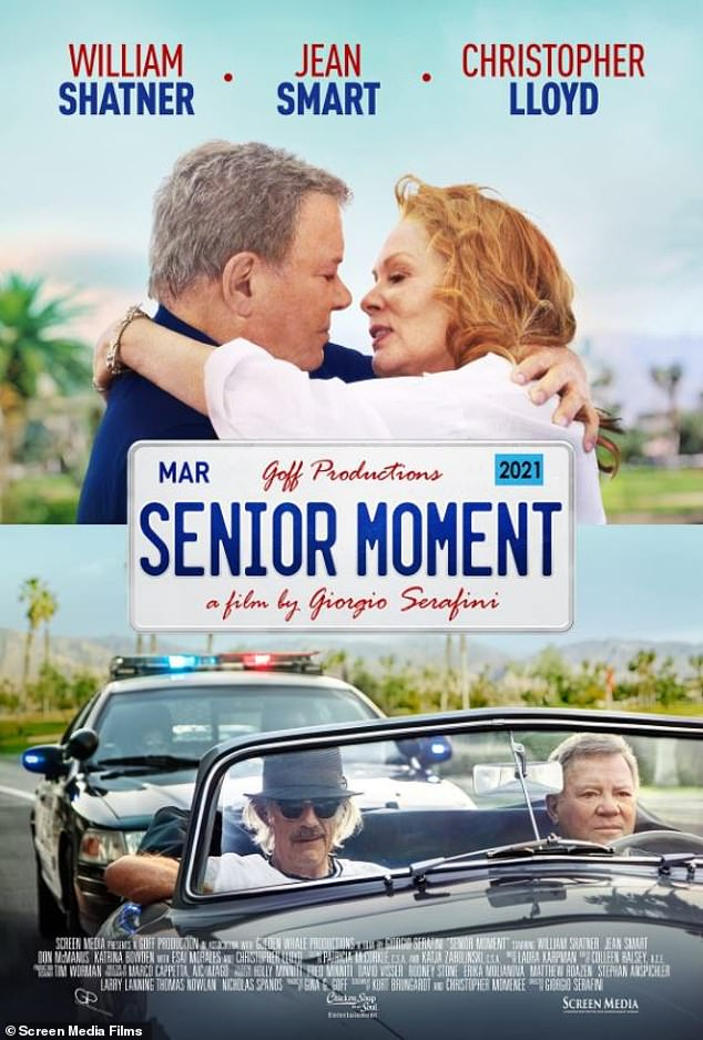 Need for speed: Shatner now portrays retired NASA test pilot Victor Martin in Giorgio Serafini's dramedy Senior Moment, which hit US theaters/VOD last Friday