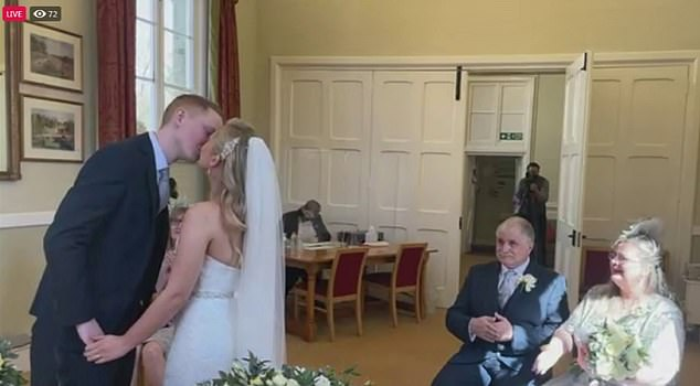 The couple were supposed to wed in August but Jess said a silver lining of their new wedding date is the fact she can have real daffodils - the flower she's always wanted since she was a little girl
