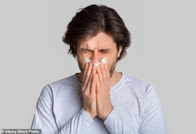 An occasional nosebleed affects up to 60 per cent of people, typically without any complications. The bleed can be eased by sitting, leaning forward and pinching the lower, soft part of the nose for 15 minutes