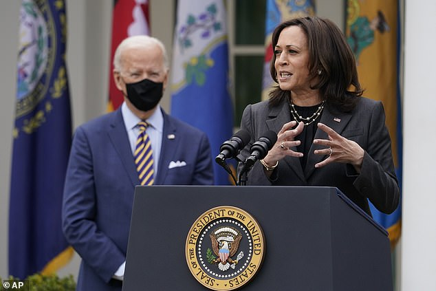 The White House gives prominence to Vice President Kamala Harris by referring to the 'Biden-Harris Administration' on its official web site and on social media