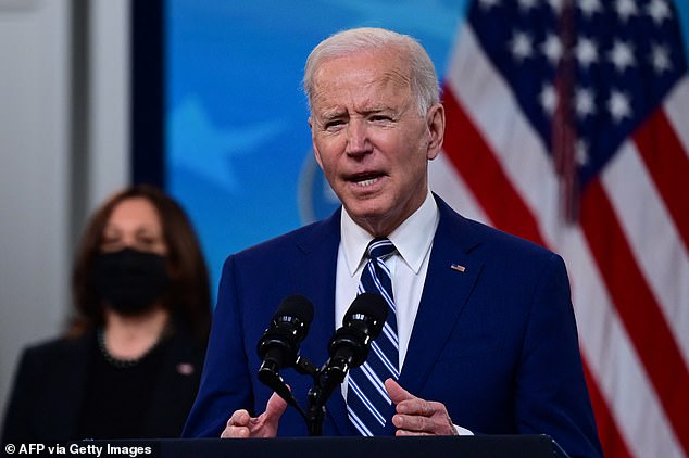 President Joe Biden pleaded with Republican governors on Monday to 'reinstate mask mandates' and stop reopening in their states