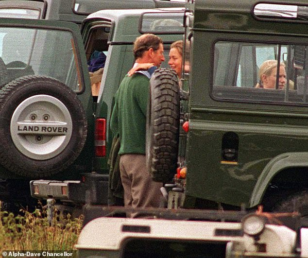 Unfairly criticized: Tiggy with Charles at Balmoral in August 1995