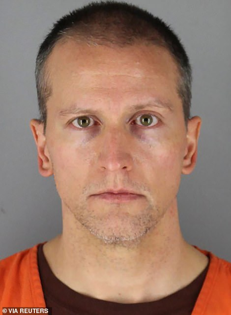 Chauvin, 45, (pictured) was charged on three counts in connection with the death of 46-year-old Floyd: second degree murder, third degree murder and second degree manslaughter
