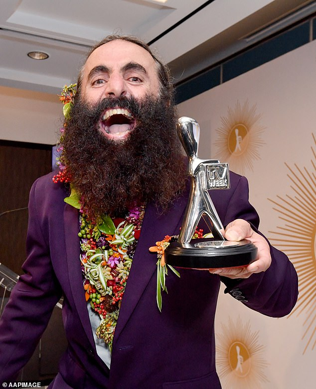 Bad timing:According to The Australian, some executives are unhappy because the event will be held on the first day of the non-ratings period when talent will be unavailable to attend as shows will either be on hiatus or filming. Pictured:Gardening Australia host Costa Georgiadis posing with his Silver Logie at the2019 Logie Awards