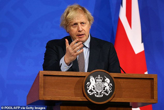 Behind the PM's lectern hung two flags which appeared so stiff a Downing Street elf must have been up all night squirting them in starch