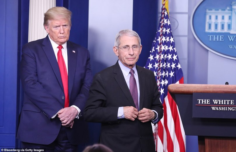 Donald Trump on Monday lashed out at Dr Anthony Fauci, describing him as inefficient, misguided and unwise