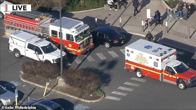 Authorities say a single shooter fled the scene and police were looking for the suspect and the weapon used in the killing