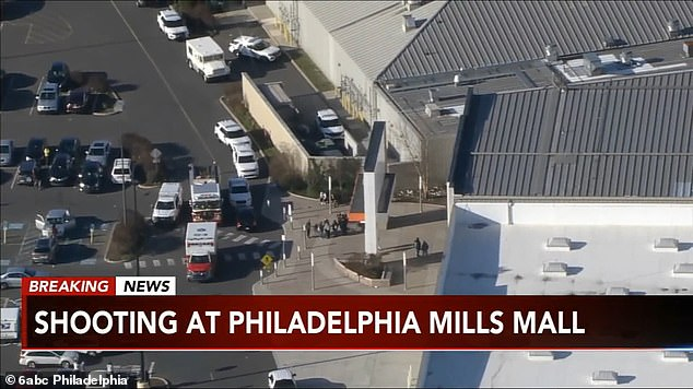 Police found a man in the food court area with several gunshots wounds to the chest