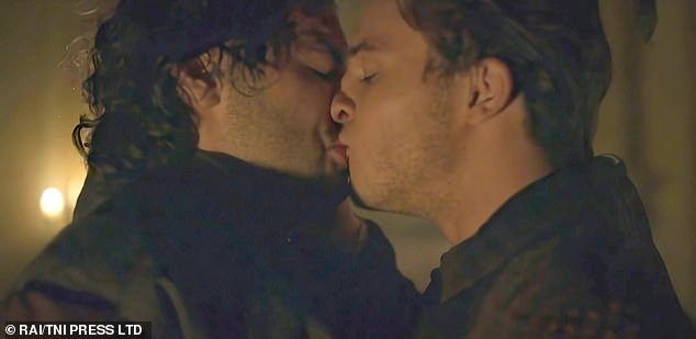 Kissing: As he shares a steamy embrace with a male co-star in the upcoming eight-episode Leonardo Da Vinci series, Aidan has become adept at dealing with on-screen sexual moments, but is also aware of the pitfalls.